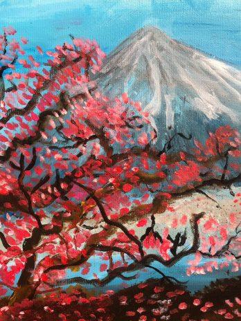 Sakura at Mt Fuji